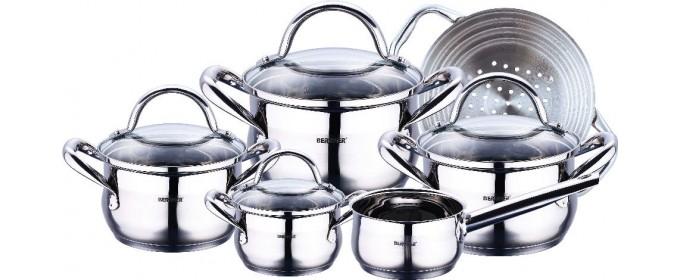 Набор посуды из нержавеющей стали Bergner BG-6529